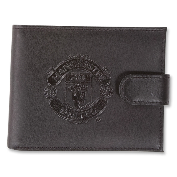 Manchester United Embossed Crest Leather Wallet