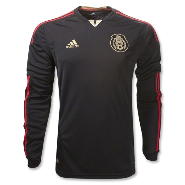 Mexico 11/12 Away Long Sleeve Soccer Jersey