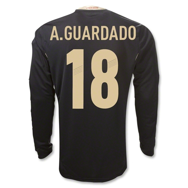 Mexico 11/12 A. GUARDADO Away Long Sleeve Soccer Jersey