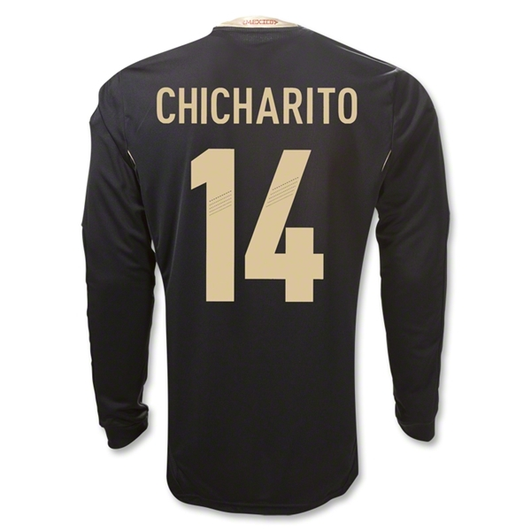 Mexico 11/12 CHICHARITO Away Long Sleeve Soccer Jersey