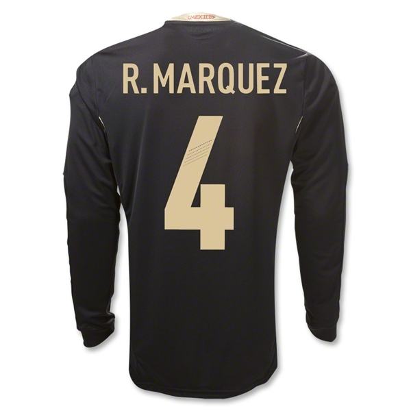 Mexico 11/12 R. MARQUEZ Away Long Sleeve Soccer Jersey