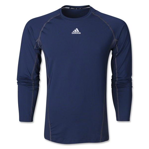 adidas TechFit Fitted Long Sleeve Top (Navy)