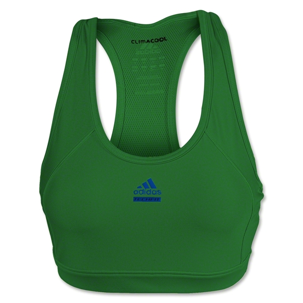adidas Women's Techfit Solid Sport Bra (Green)
