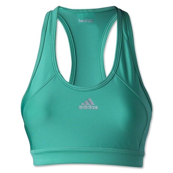adidas Women's Techfit Solid Bra (Green)