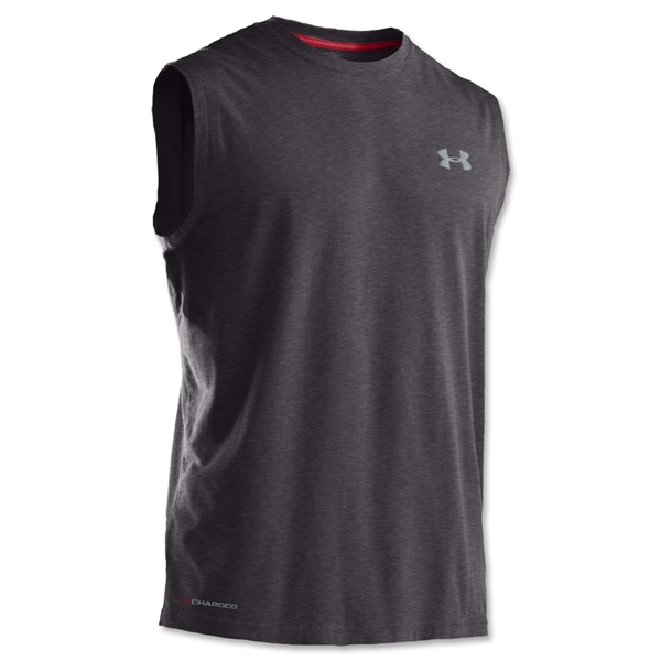 Under Armour Charged Cotton Sleeveless T-Shirt (Dk Grey)