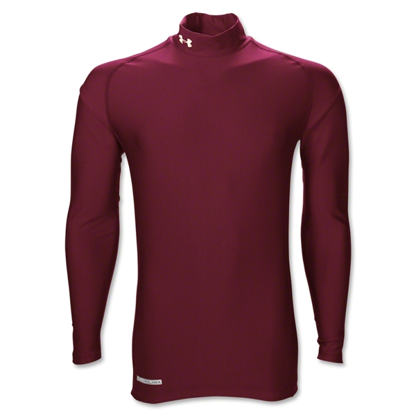 Under Armour ColdGear Game Day Compression Mock (Maroon)