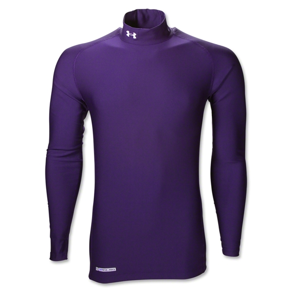 Under Armour ColdGear Game Day Compression Mock (Purple)