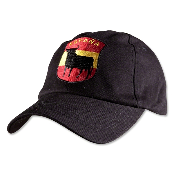 Spain Espana Bull Crest Flex-Fit Hat (Black)