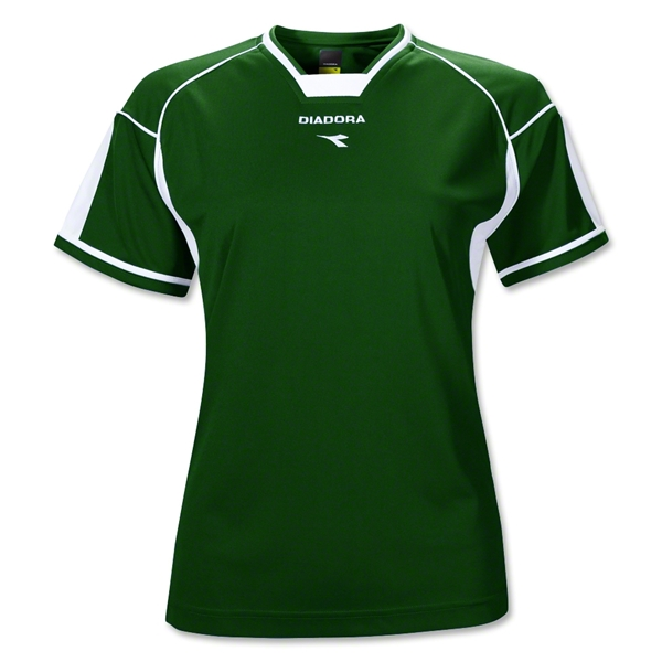 Diadora Women's Quadro Jersey (Dark Green)