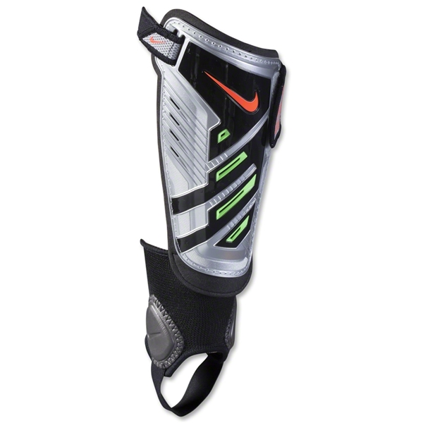 Nike Youth Protegga Shield Shinguard (Chrome/Neo Lime/Crimson)