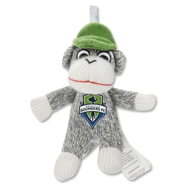 Seattle Sounders Plush Sock Monkey Ornament