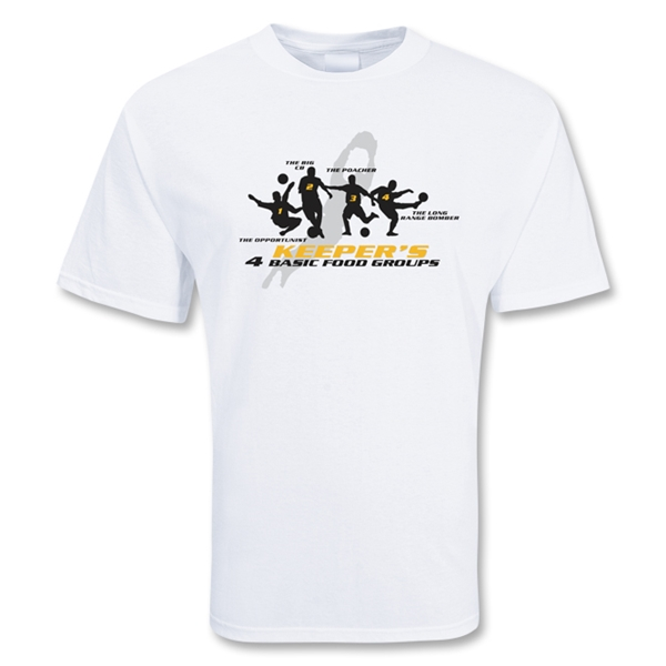 Keeper's Food Soccer T-Shirt (White)
