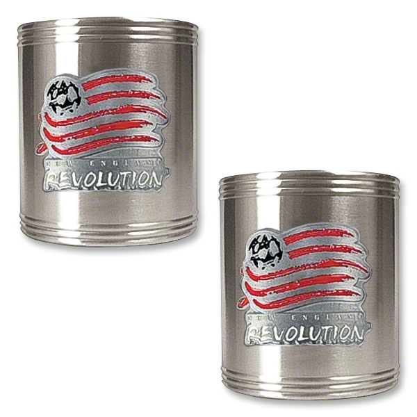 New England Revolution 2 pc Stainless Steel Can Holder Set