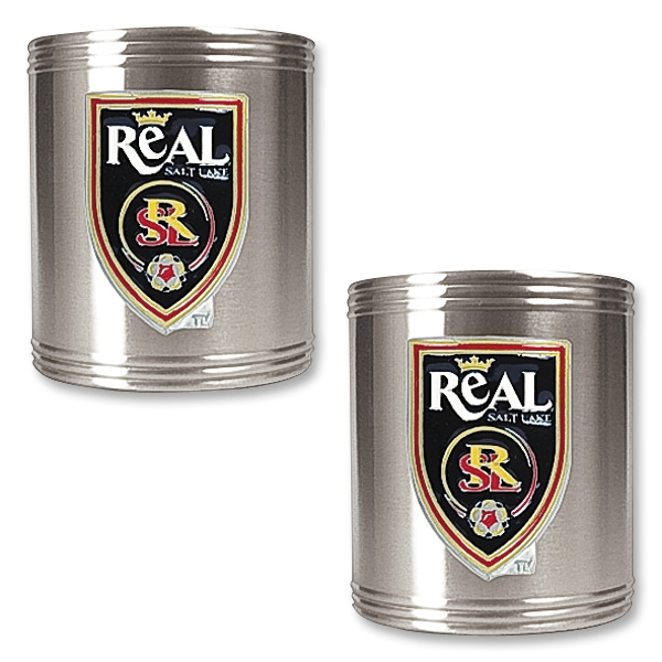 Real Salt Lake Two Piece Stainless Steel Can Holder Set