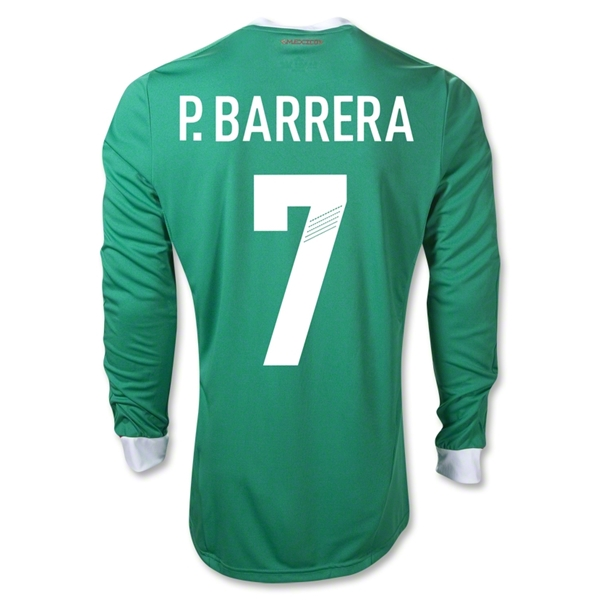Mexico 11/12 P. BARRERA Home Long Sleeve Soccer Jersey
