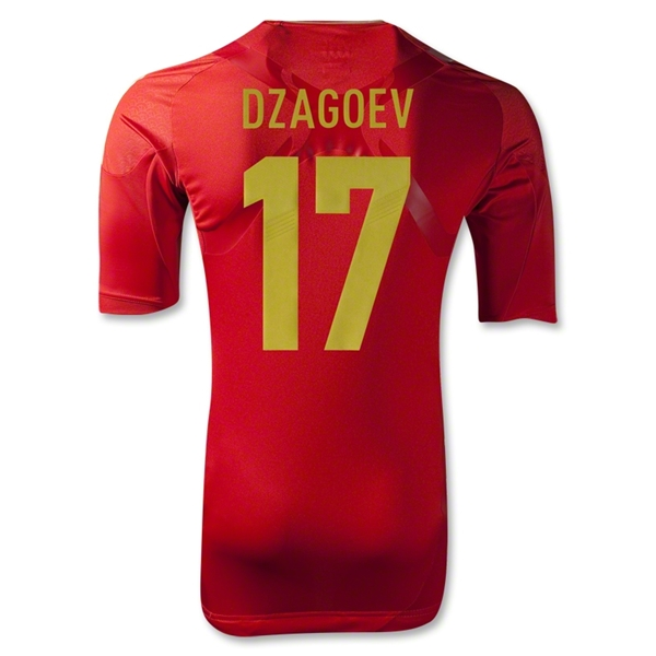 Russia 2012 DZAGOEV Authentic Home Soccer Jersey
