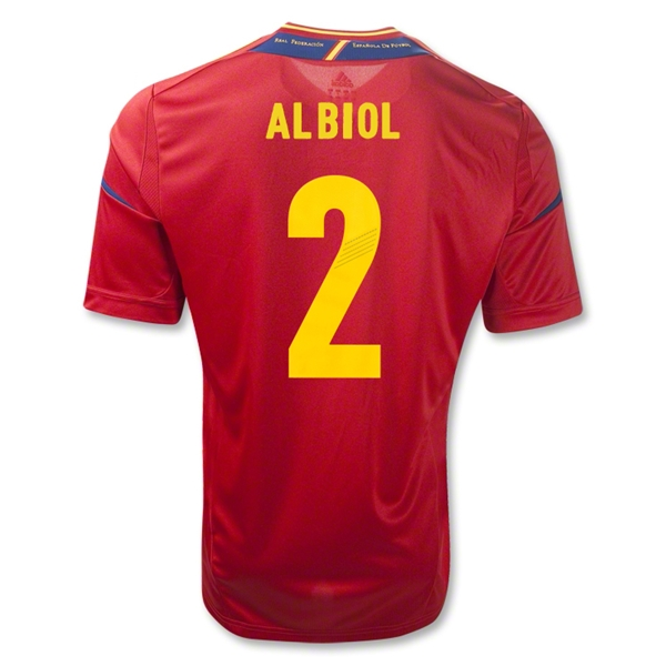 Spain 11/13 ALBIOL Home Soccer Jersey