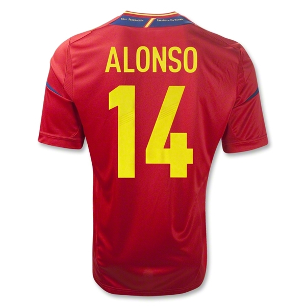Spain 11/13 ALONSO Home Soccer Jersey