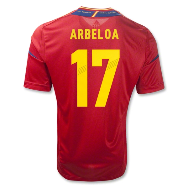 Spain 11/13 ARBELOA Home Soccer Jersey