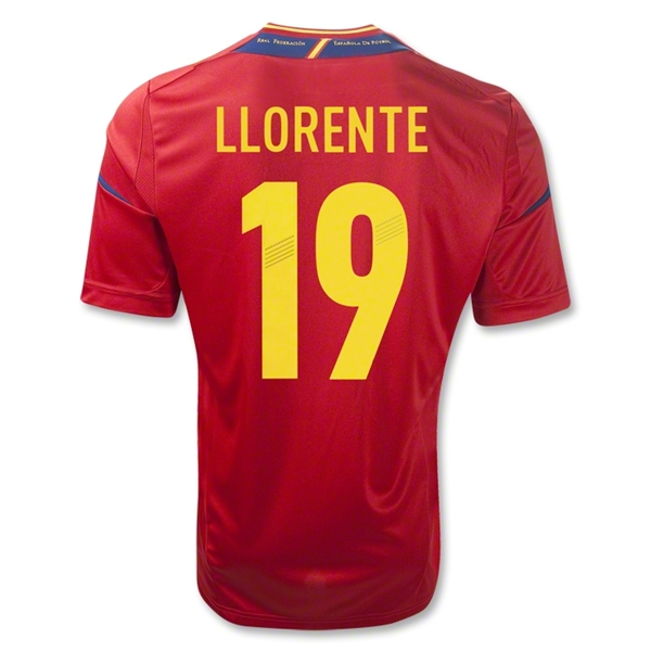 Spain 11/13 LLORENTE Home Soccer Jersey