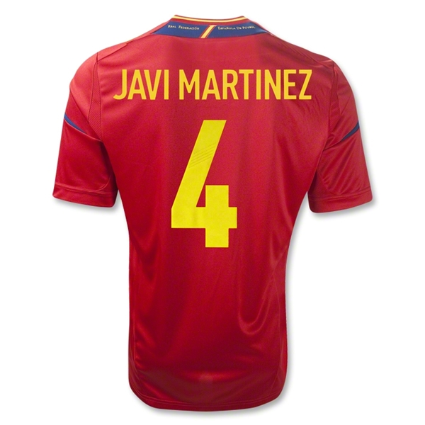 Spain 11/13 MARTINEZ Home Soccer Jersey