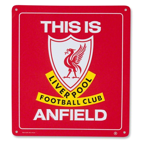 Liverpool This is Anfield Iconic Sign