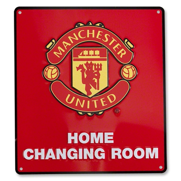 Manchester United Changing Room Sign