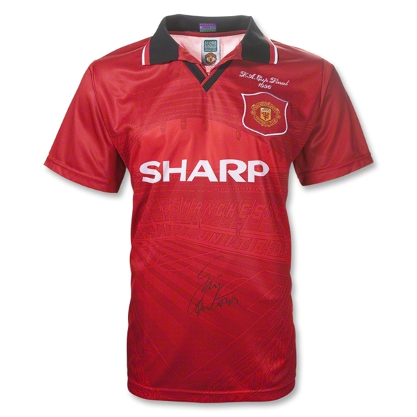 ICONS Manchester United 1996 Eric Cantona Signed Final Soccer Jersey