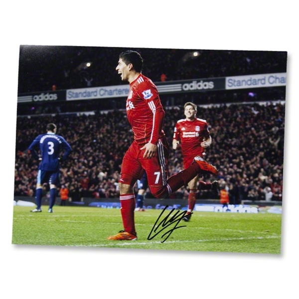 Luis Suarez Signed First Goal Photo