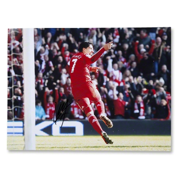 Luis Suarez Signed Goal v. Manchester United Photo