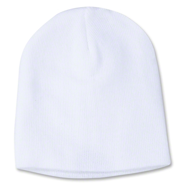 adidas Cuffless Knit Beanie (White)