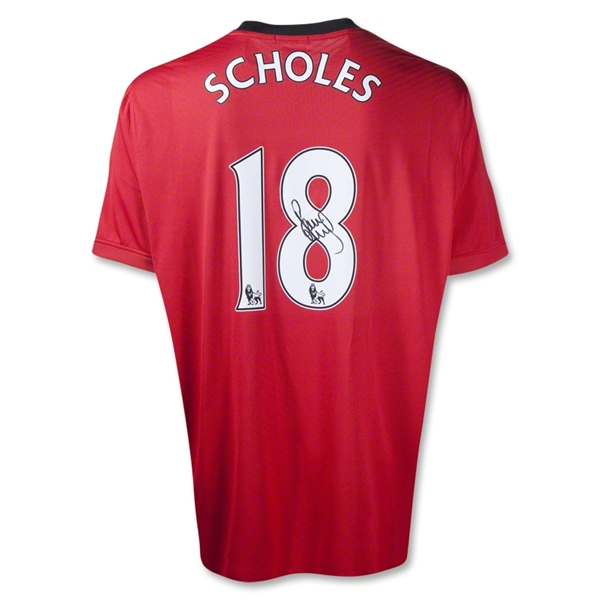 ICONS Manchester United Paul Scholes Signed Soccer Jersey