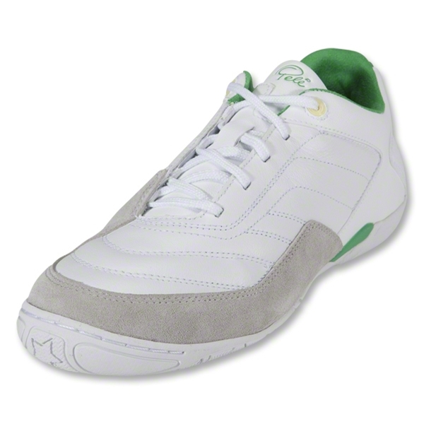 Pele Radium Indoor Soccer Shoes (Running White/Hyper Green/Lemon Chiffon)