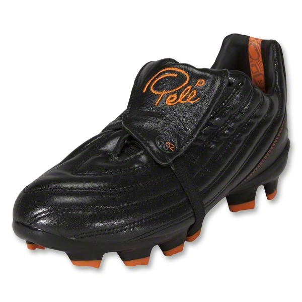 Pele 1962 FG MS KIDS Soccer Shoes (Black/Vibrant Orange)