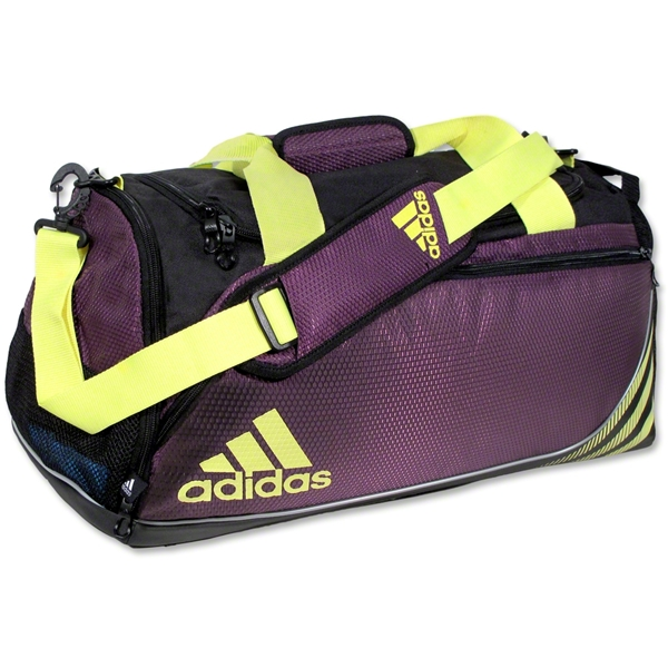 adidas Team Speed Small Duffle Bag (Purple/Yellow)
