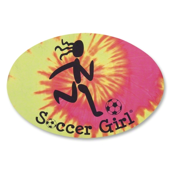 Soccer Girl Tie Dye Decal