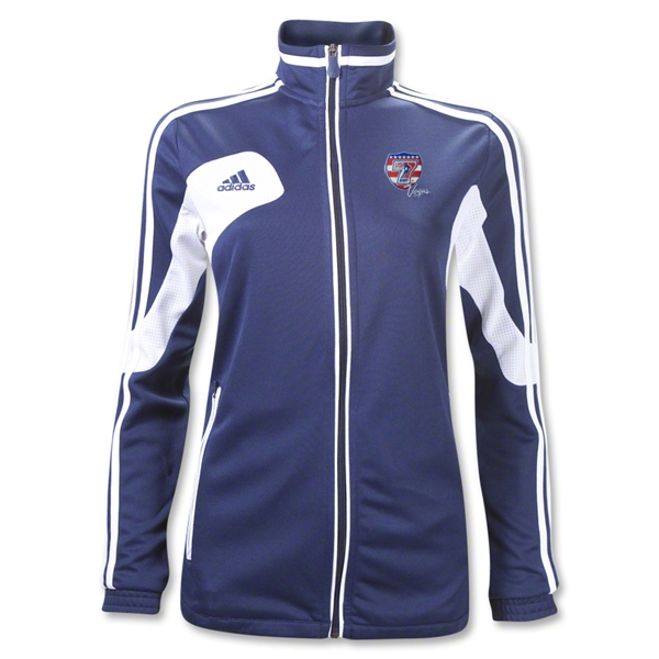 adidas USA Sevens Women's Condivo 12 Training Jacket (Navy/White)