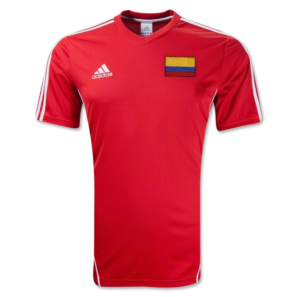 Colombia Estro 12 Soccer Jersey (Red/White)