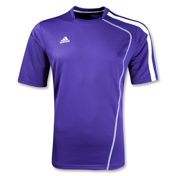 adidas Sossto Soccer Jersey (Pur/Wht)