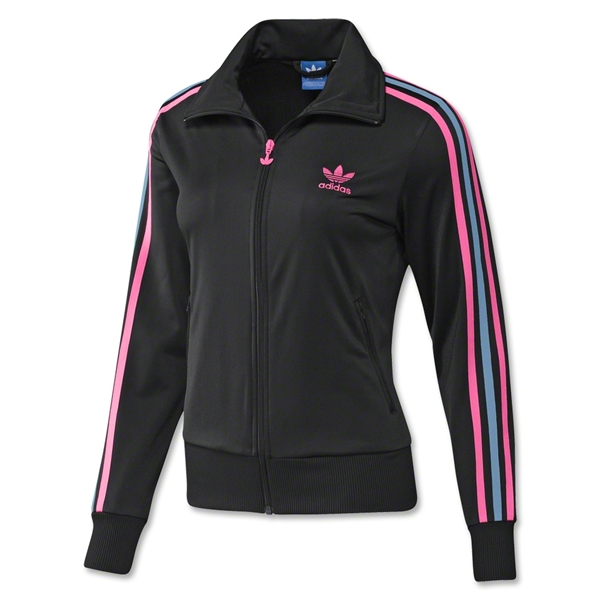 adidas Originals Women's Firebird Track Top 2012 (Black/Pink)