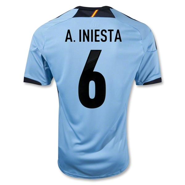 Spain 12/13 A. INIESTA Away Soccer Jersey