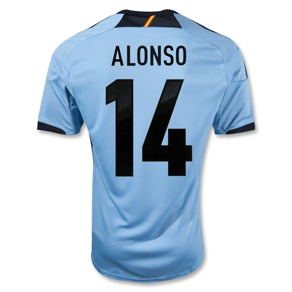 Spain 12/13 ALONSO Away Soccer Jersey