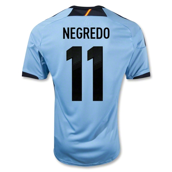 Spain 12/13 NEGREDO Away Soccer Jersey