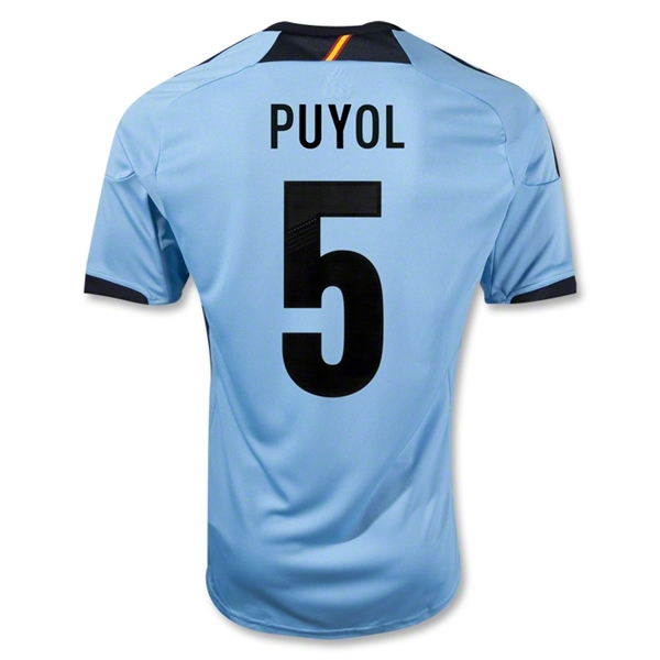 Spain 12/13 PUYOL Away Soccer Jersey