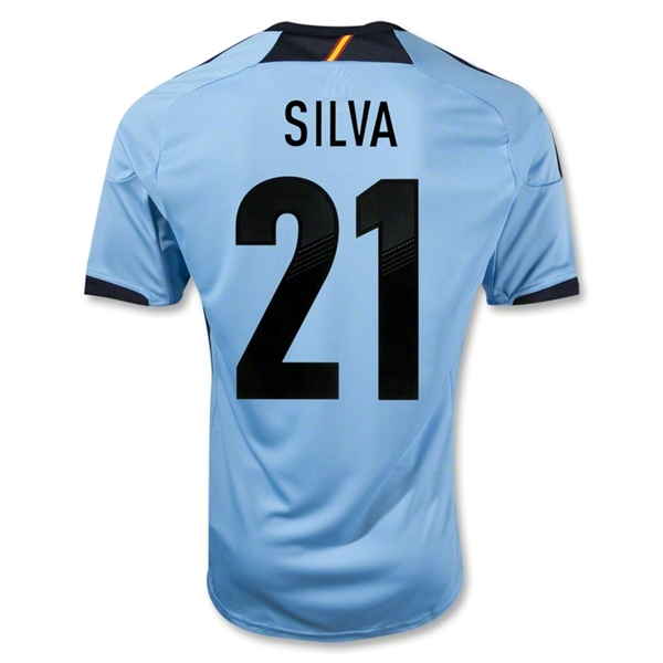 Spain 12/13 SILVA Away Soccer Jersey