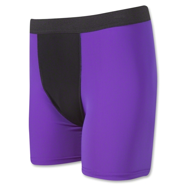 Two-Tone Compression Shorts (Pur/Blk)