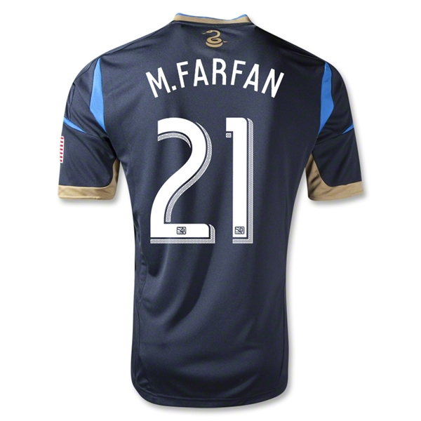 Philadelphia Union 2013 M.FARFAN Authentic Primary Soccer Jersey