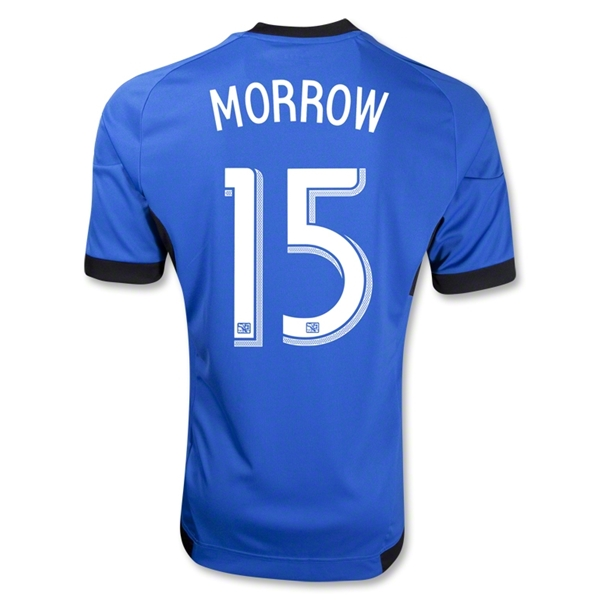 San Jose Earthquakes 2013 MORROW Secondary Away Soccer Jersey