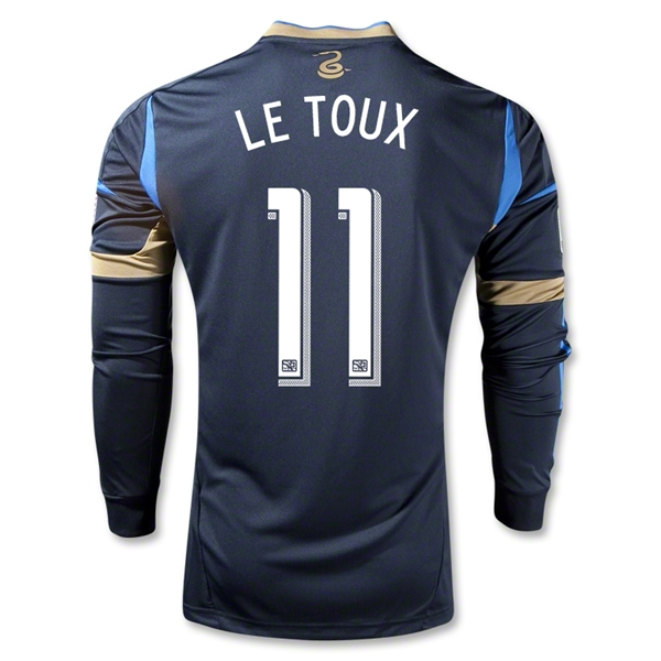 Philadelphia Union 2013 LE TOUX Authentic LS Primary Soccer Jersey