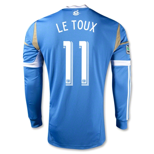 Philadelphia Union 2013 LE TOUX Authentic LS Secondary Soccer Jersey